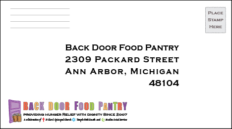 Back Door Food Pantry | 2309 Packard St | Ann Arbor, MI 48104